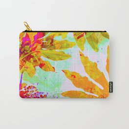 Tropical Adventure - Neon Orange, Pink and Mint Carry-All Pouch