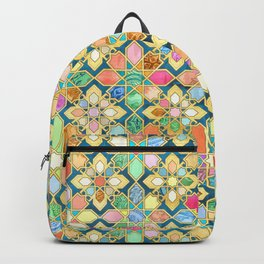 Gilded Moroccan Mosaic Tiles Backpack