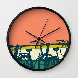 On your bike (Grapefruit) Wall Clock