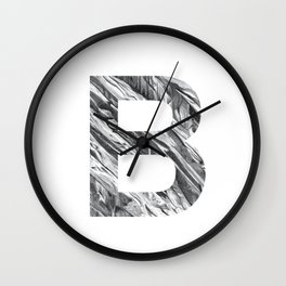 The Letter B- Stone Texture Wall Clock