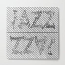 JAZZ GOLD MUSICAL INSTRUMENTS Metal Print