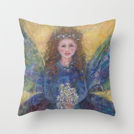 faeries fairies and angels Throw Pillow