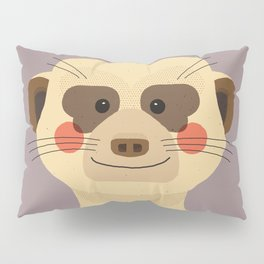 Meerkat, Animal Portrait Pillow Sham