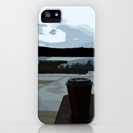 Coffee by the Lake iPhone Case