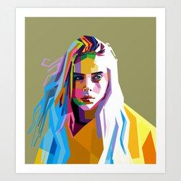 Billie Eilish - pop art Art Print