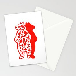 Red Bear  Stationery Cards