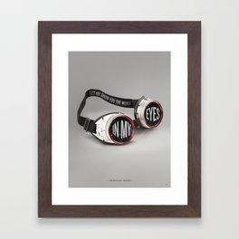World In My Eyes Framed Art Print