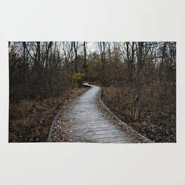 Wooden Winding Path Rug