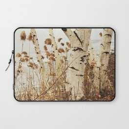 Autumn Birches by the Lake Laptop Sleeve