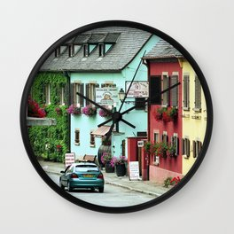 Pastel Town : Alsace Wall Clock