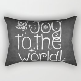 Joy to the world chalkboard christmas lettering Rectangular Pillow