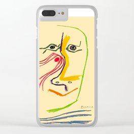 Hommage A Rene Char Vintage Picasso Exhibit Poster Print Clear iPhone Case