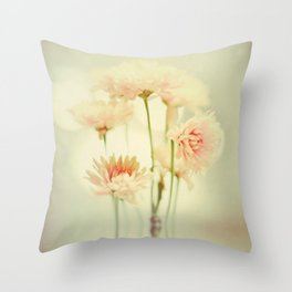 Flower series! Pretty in Pink Throw Pillow