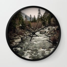 Winter Begins - River Mountain Nature Photography Wall Clock
