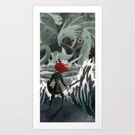 Sea Monsters Art Print