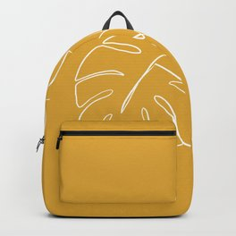 Monstera minimal - yellow Backpack