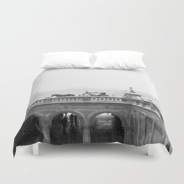 Carriage Ride in Central Park Duvet Cover