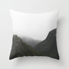 The Misty Mountains Call Throw Pillow