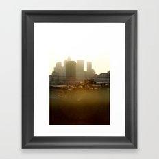 LA sunshine Framed Art Print