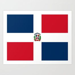 Flag of the dominican republic Art Print