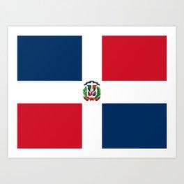 Flag of the dominican republic Art Print
