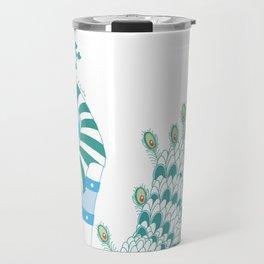 Robot Peacock Travel Mug