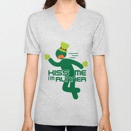 Kiss Me I'm Runner St Patrick's Day Unisex V-Neck