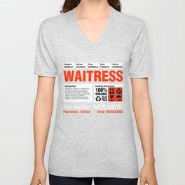 Funny Waitress T Shirt Unisex V-Neck