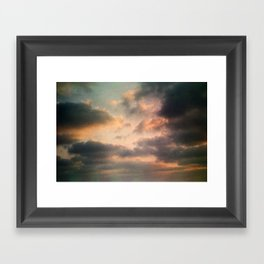 Dreamy Clouds Framed Art Print