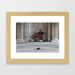 Cellist at the Louvre Framed Art Print