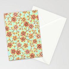 Candy Apple Blossom Aqua Stationery Cards