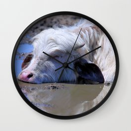 White Water Buffalo Bliss Wall Clock