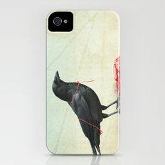 freedom  _ black crow iPhone (4, 4s) Slim Case