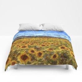 Vincent Van Gogh Sunflowers Comforters