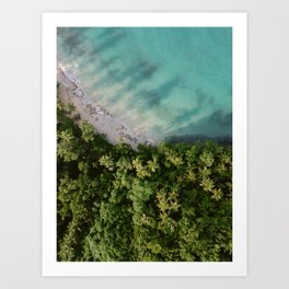 Paradise from above | Coastal drone photography Las Terrenas | The Dominican Republic travel photography Art Print