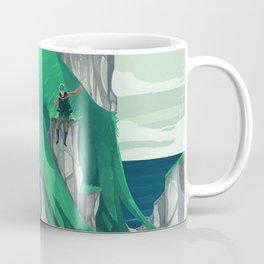 The wanderer and the ancient island Coffee Mug