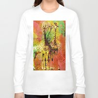 giraffe Long Sleeve T-shirts featuring Giraffe  by Saundra Myles