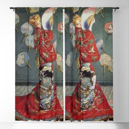 Art Madame Monet Wearing a Kimono Claude Monet 1875 Blackout Curtain
