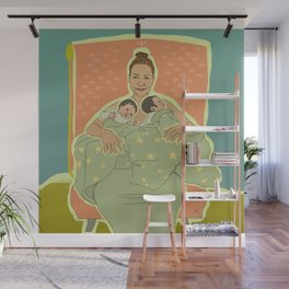 Mother with Twins Wall Mural
