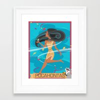 pocahontas Framed Art Prints featuring Pocahontas by LindseyCowley