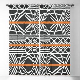 Tribal ethnic geometric pattern 022 Blackout Curtain