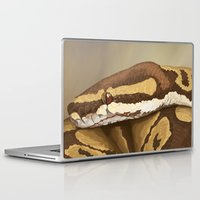 monty python Laptop & iPad Skins featuring Ball Python (Odysseus) by WesSide