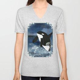 Killer Whale Orca Unisex V-Neck
