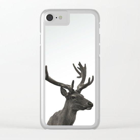 Single Deer Clear iPhone Case