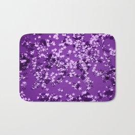 Purple Glitter Stars #1 #shiny #decor #art #society6 Bath Mat