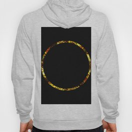 Golden Ring - Minimalistic, gold and black abstract art, metallic gold texture Hoody