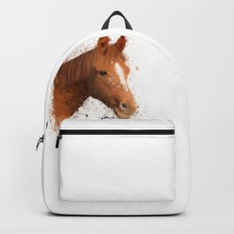 Brown and White Horse Backpack