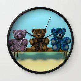 Bears on the Bench Wall Clock