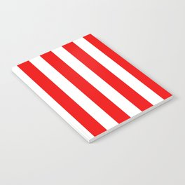 Holidaze Stripe Red White Vertical Notebook