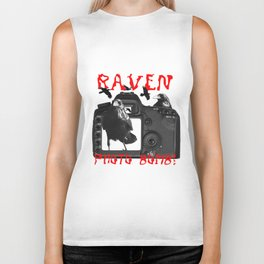 Raven Photo Bomb! Biker Tank